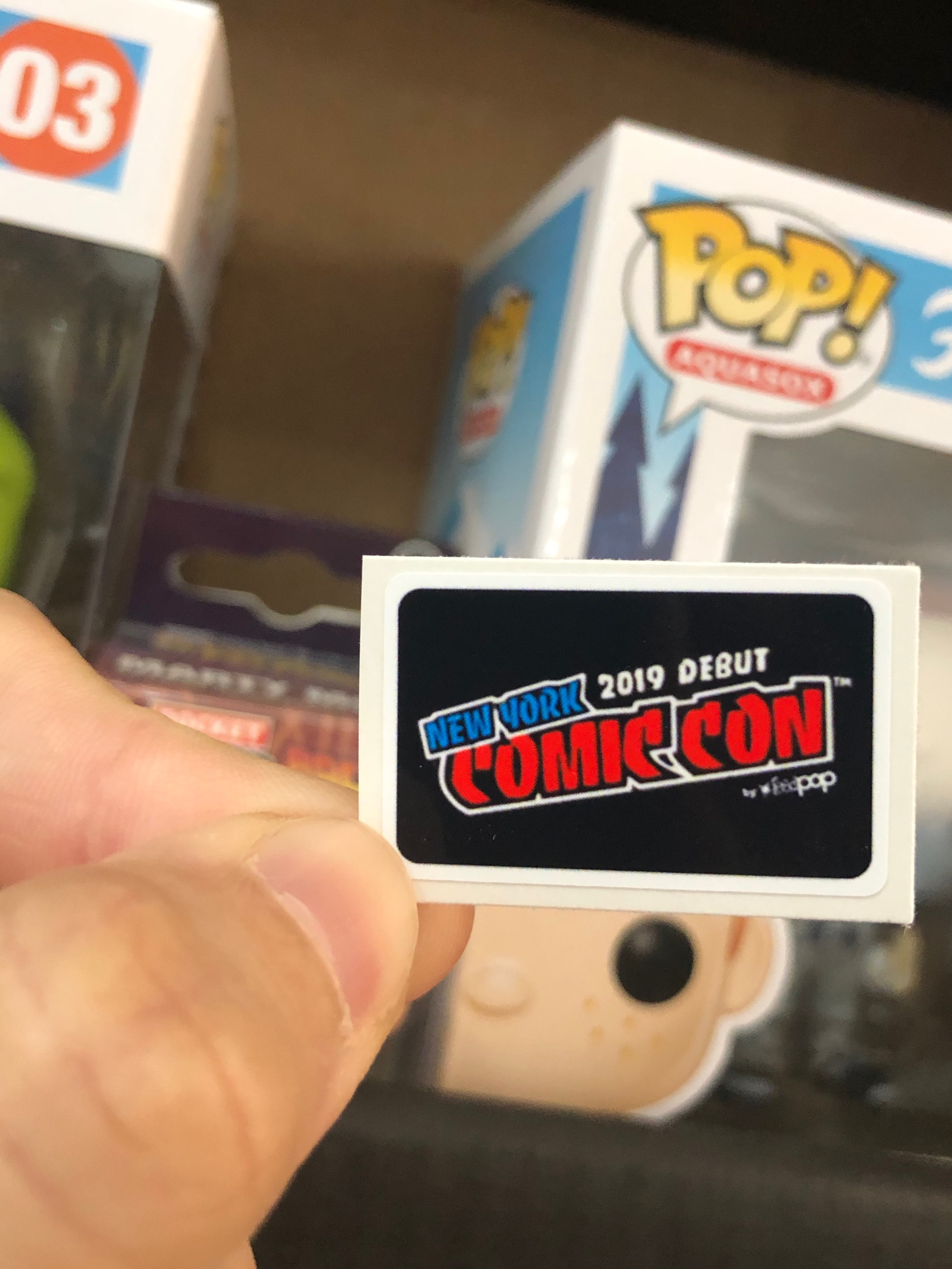 STICKER REPLACEMENT NYCC 2018 LIMITED EDITION FUNKO POP